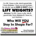Who Will YOU Stay In Shape For?