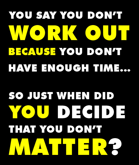 Work Out To Stay Fit Because YOU Matter!