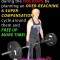 Plan an overreaching/supercompensation cycle to keep your workouts and nutrition on track through Christmas & New Years!