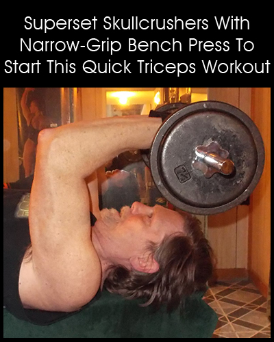 Quick Triceps Workout - lying triceps extension