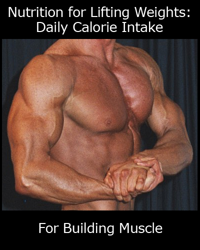 Nutrition for Lifting Weights - Daily Calorie Intake For Building Muscle
