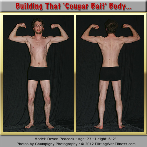 Bodybuilding for a 'cougar-bait' body... Model: Devon Peacock. Photo ©2012 Champigny Photography