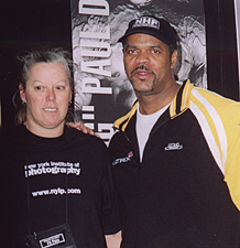 Photo Editor Teri Champigny with Former Mr. Olympia Contender Paul Dillett