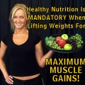 Nutrition For Lifting Weights